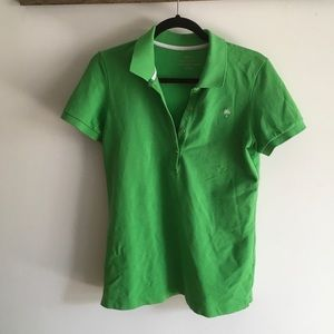 Kelly green lily polo shirt